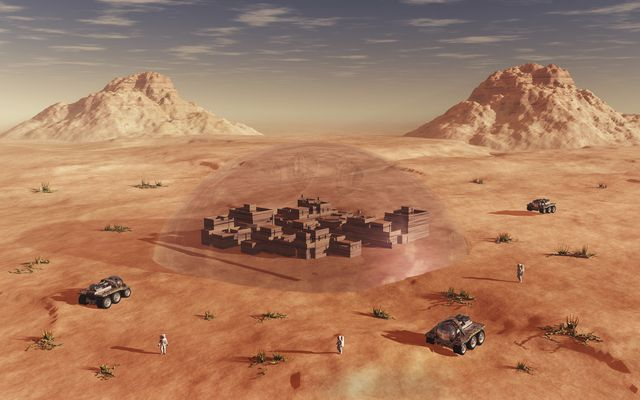 humanity exploring and terraforming the planet mars