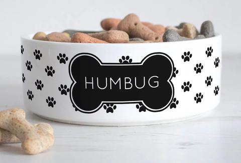 Humbug dog bowl photo