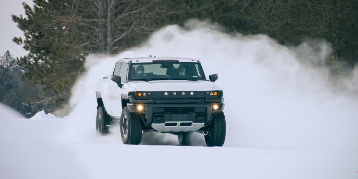 Watch the Hummer EV Winter Testing in Michigan