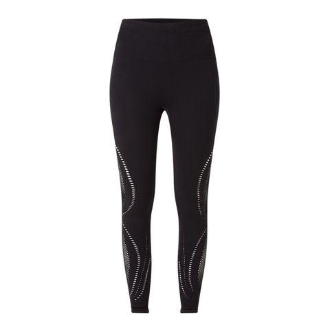 high waist naadloze trainingslegging legging zwart naadloos hardlopen hardloopkleding