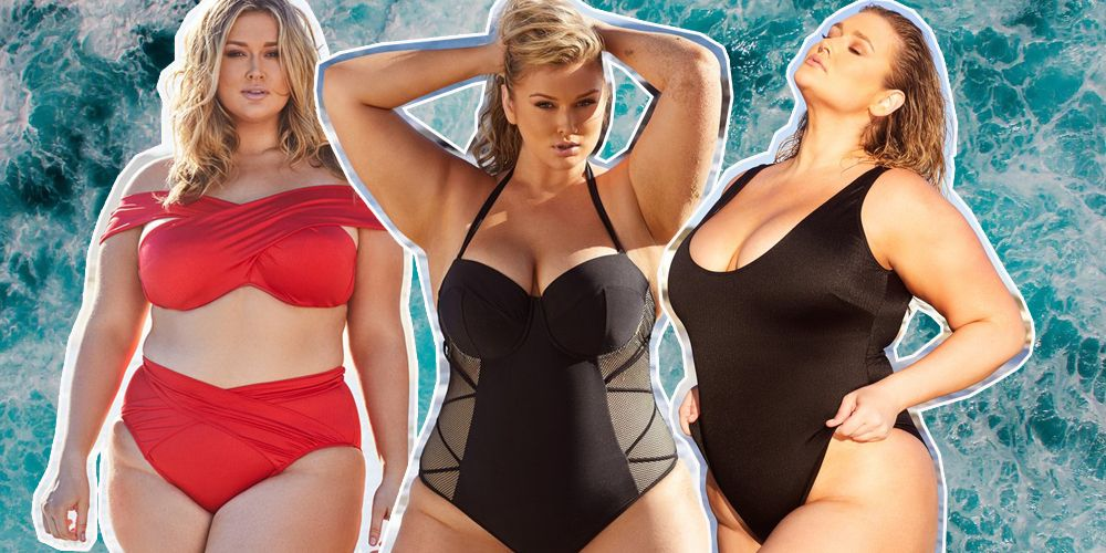 Hunter McGrady plus size swimwear collection playful promises