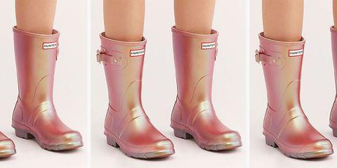 Footwear, Boot, Pink, Shoe, Human leg, Leg, Joint, High heels, Riding boot, Peach,