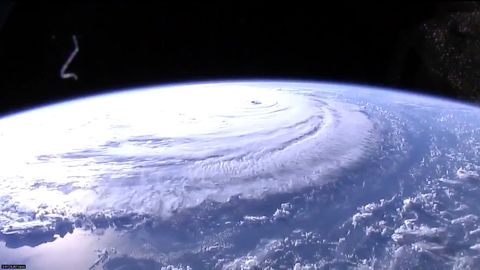 This image provided by NASA shows Hurricane Florence from the International Space Station.