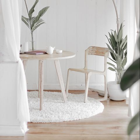 White, Room, Furniture, Interior design, Product, Table, Chair, Floor, Living room, Architecture,