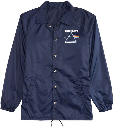 Clothing, Outerwear, Sleeve, Jacket, Collar, Electric blue, Button, Windbreaker, Active shirt, Uniform,