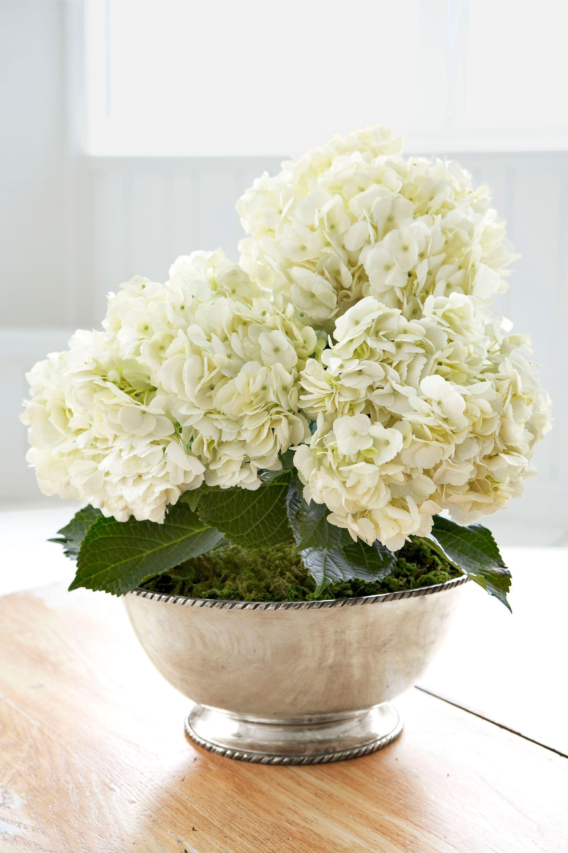 hydrangea bowl easter floral centerpiece
