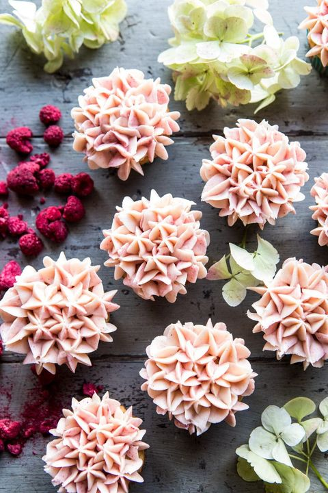 hydrangea cupcakes for easter