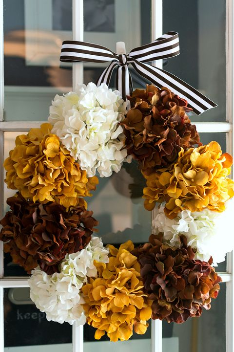hydrangea fall wreath
