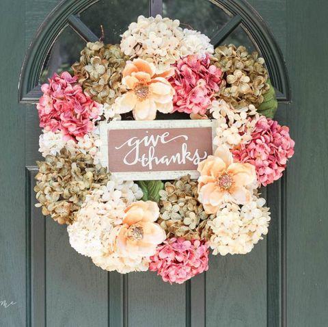 hydrangea thanksgiving wreath