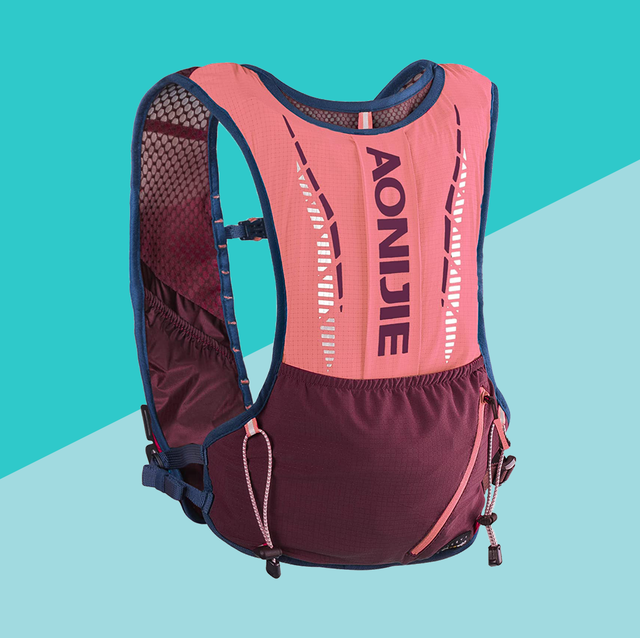 hydration pack on blue background