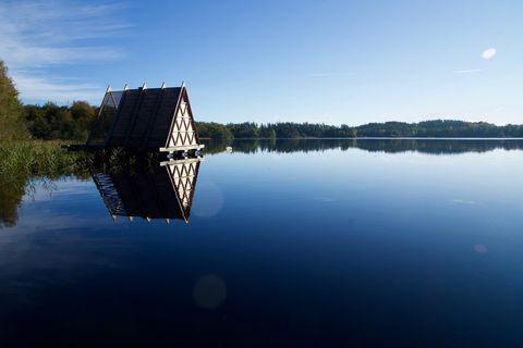 Hygge hotel in Svezia, floating sauna