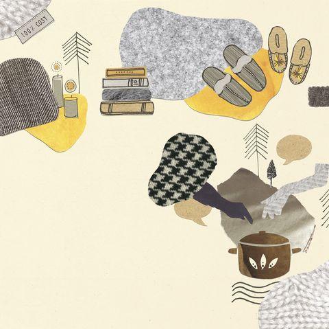 hygge illustration by nicola rew