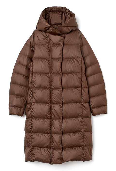 Clothing, Outerwear, Jacket, Sleeve, Brown, Hood, Puffer, Beige, Coat, Parka,