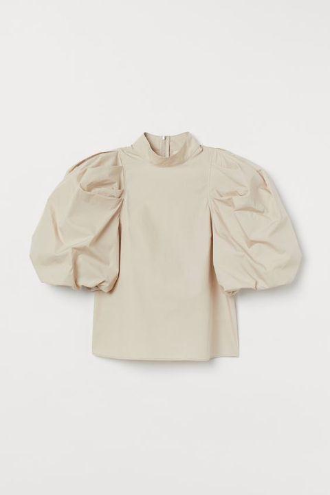 blusa mangas abullonadas de hm