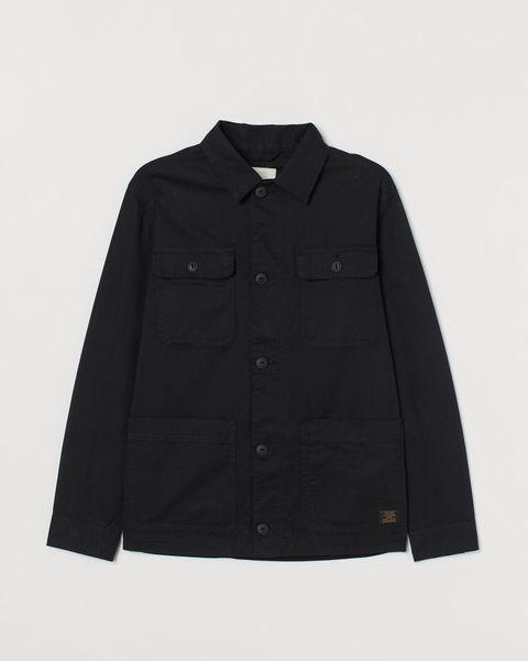sobrecamisa negra non cuatro bolsillos