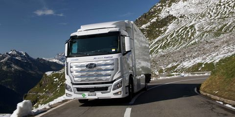 hyundai xcient camión de hidrógeno en suiza