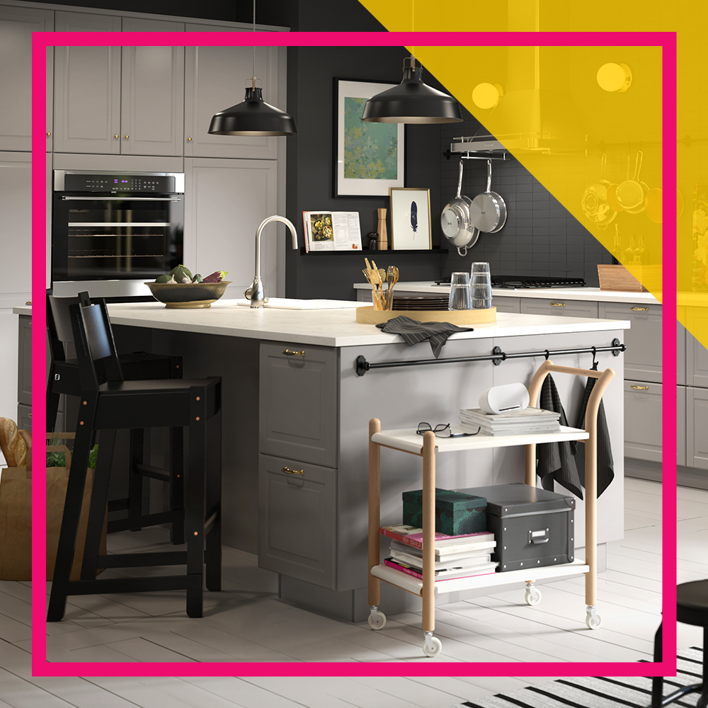 IKEA/Good Housekeeping. Everyone Loves A Kitchen Island.