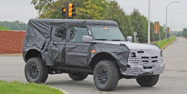 2023 ford bronco raptor prototype test mule