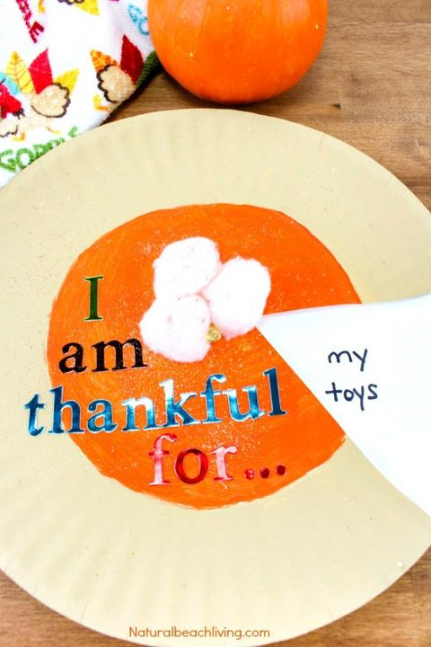Pumpkin Pie Thankfulness Craft Elle Decor