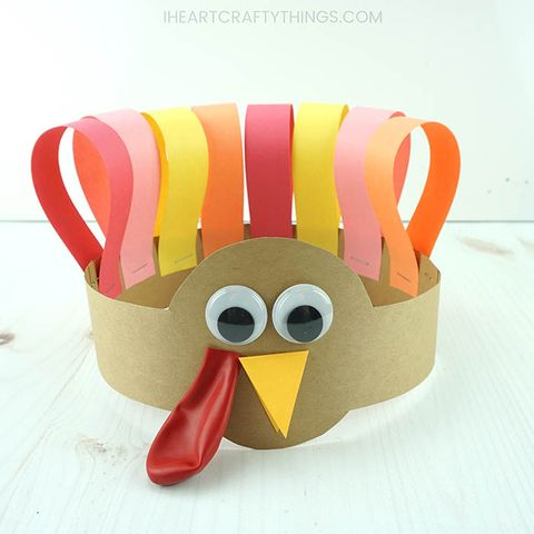 turkey headband easy thanksgiving crafts for kids