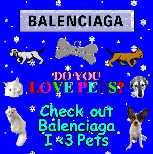 """身近な動物の命を守るためのカプセルコレクション""""i love pets""""が、バレンシアガから発売。"""