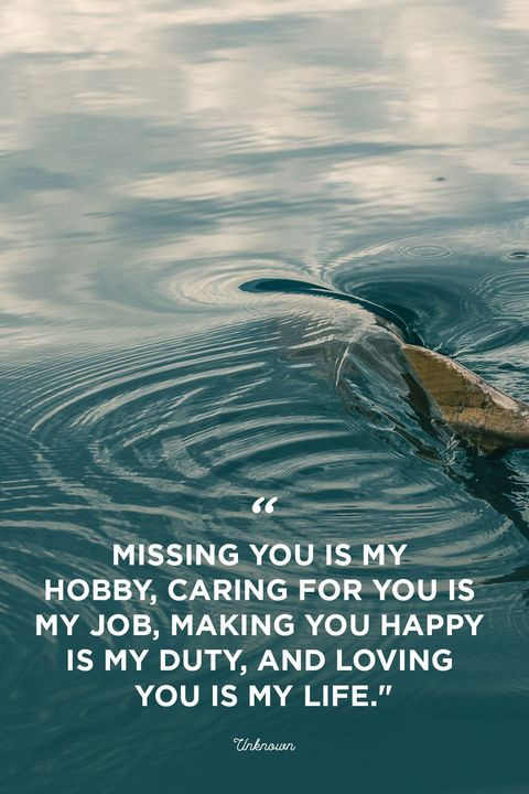 I miss you -Missing you is my hobby