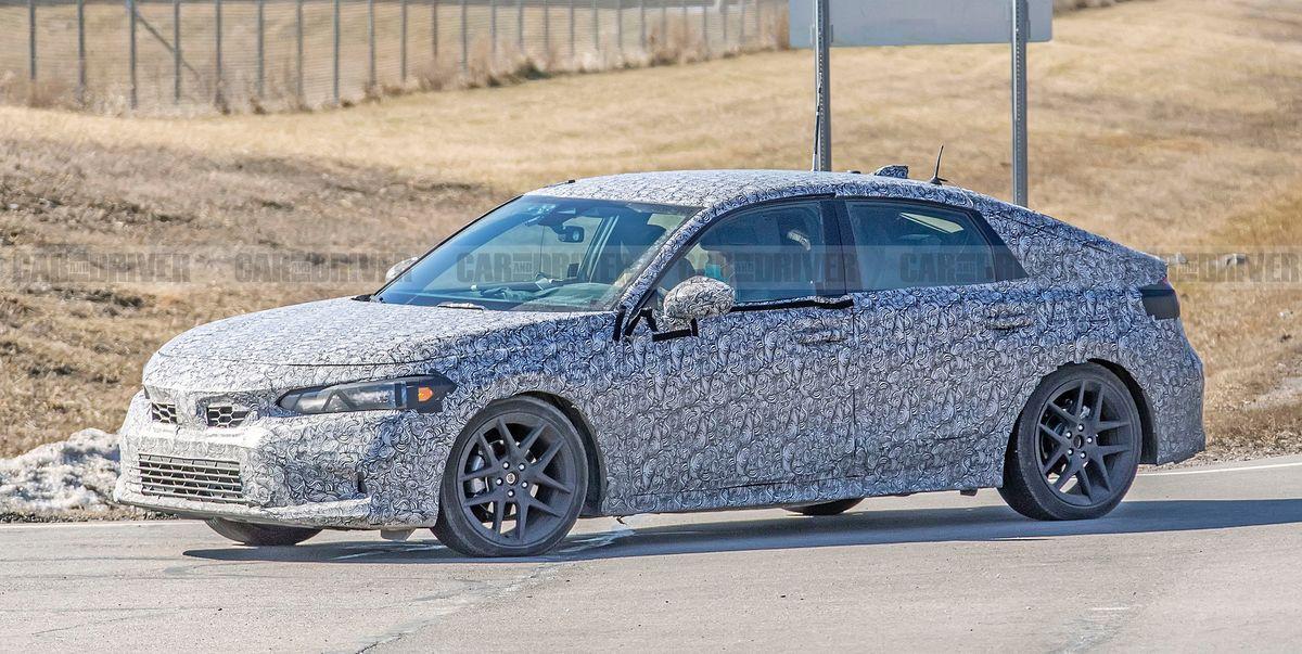 2022 Honda Civic Hatchback Spied Looking Sleek