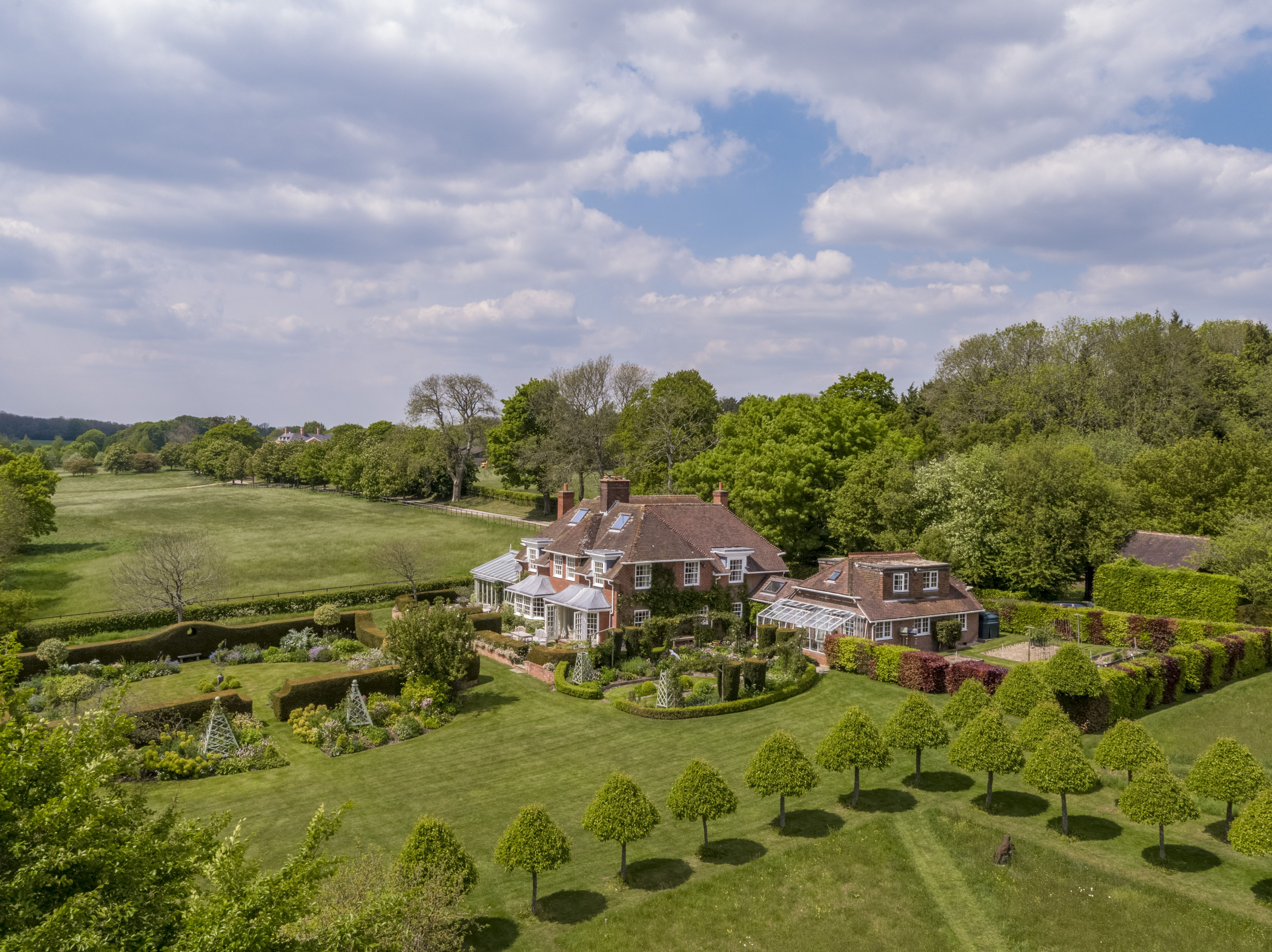 A beautifully situated country house in Hampshire