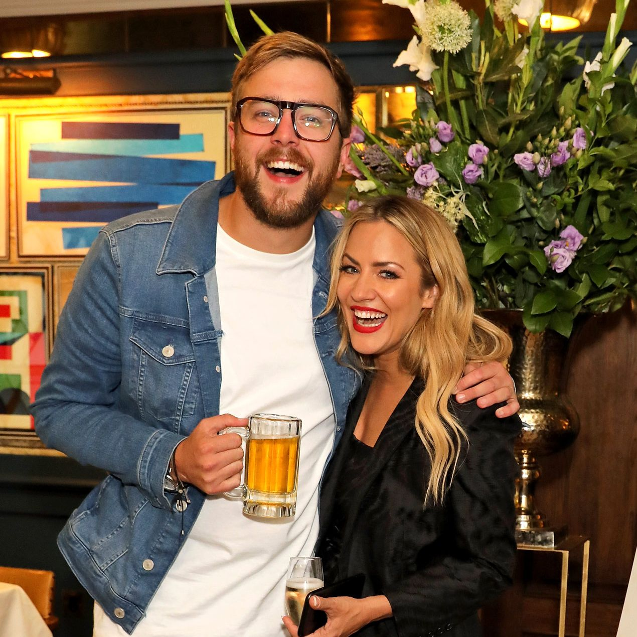 Love Island's Caroline Flack and Iain Stirling reunite ahead of new series