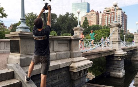 Ian taking photos of the runners