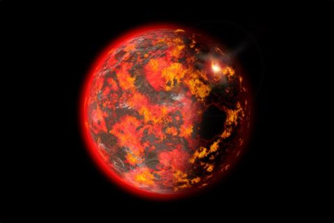 early earth, a sphere of magma