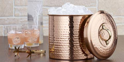 Product, Copper, Shelf, Drink, Glass, Furniture, Table, Barware, Metal, Tableware,