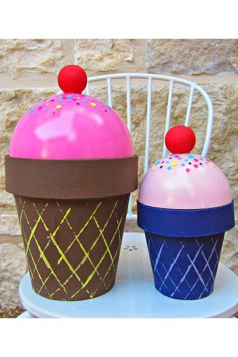 diy valentine's day boxes ice cream cones