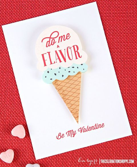 homemade valentine card ice cream