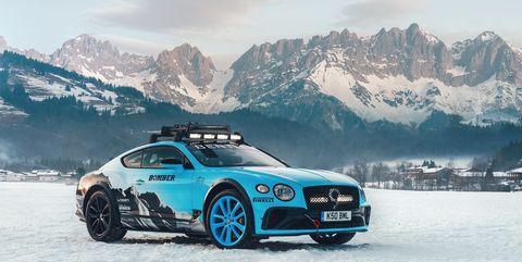 Land vehicle, Vehicle, Car, Luxury vehicle, Personal luxury car, Automotive design, Snow, Performance car, Rim, Wheel,