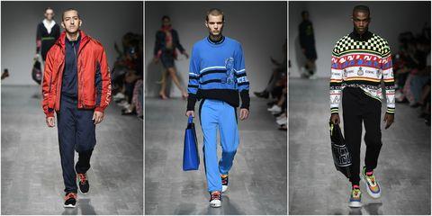 Clothing, Fashion, sweatpant, Runway, Sportswear, Fashion model, Street fashion, Jeans, Human, Footwear,