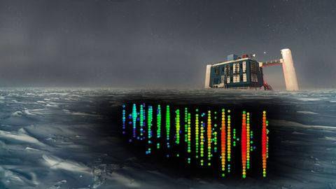 The IceCube Neutrino Observatory is buried at depths between 1.5 and 2.5 kilometers below theSouth Pole.