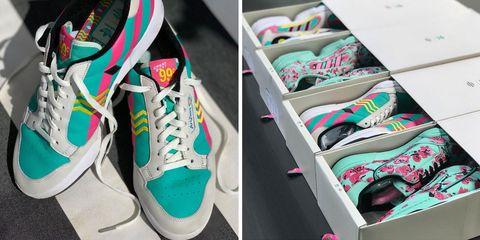 Footwear, Shoe, Sneakers, Plimsoll shoe, Pink, Athletic shoe, Skate shoe,