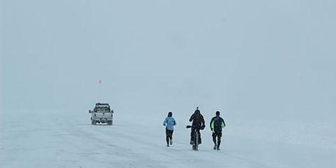 Ice Road Marathon Runners