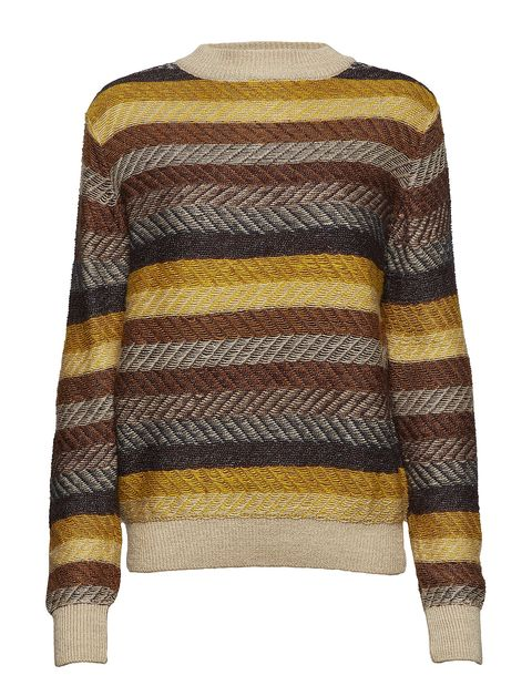 Clothing, Sweater, Outerwear, Wool, Yellow, Beige, Sleeve, Woolen, Top, Neck,