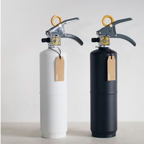 Red, Fire extinguisher, Material property, Cylinder, Vacuum flask,