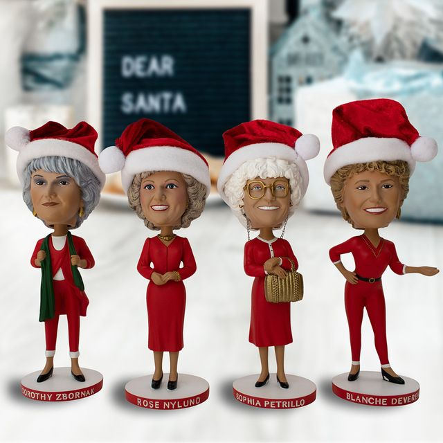 icon heroes 'the golden girls' christmas bobbleheads