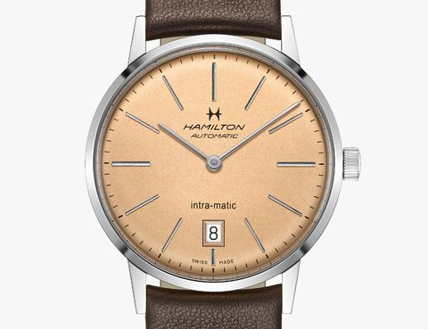 stick watch hand on hamilton