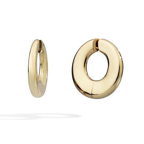 pomellato gold hoop earrings