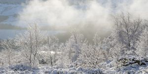 Icy weather in the hills of Northern England