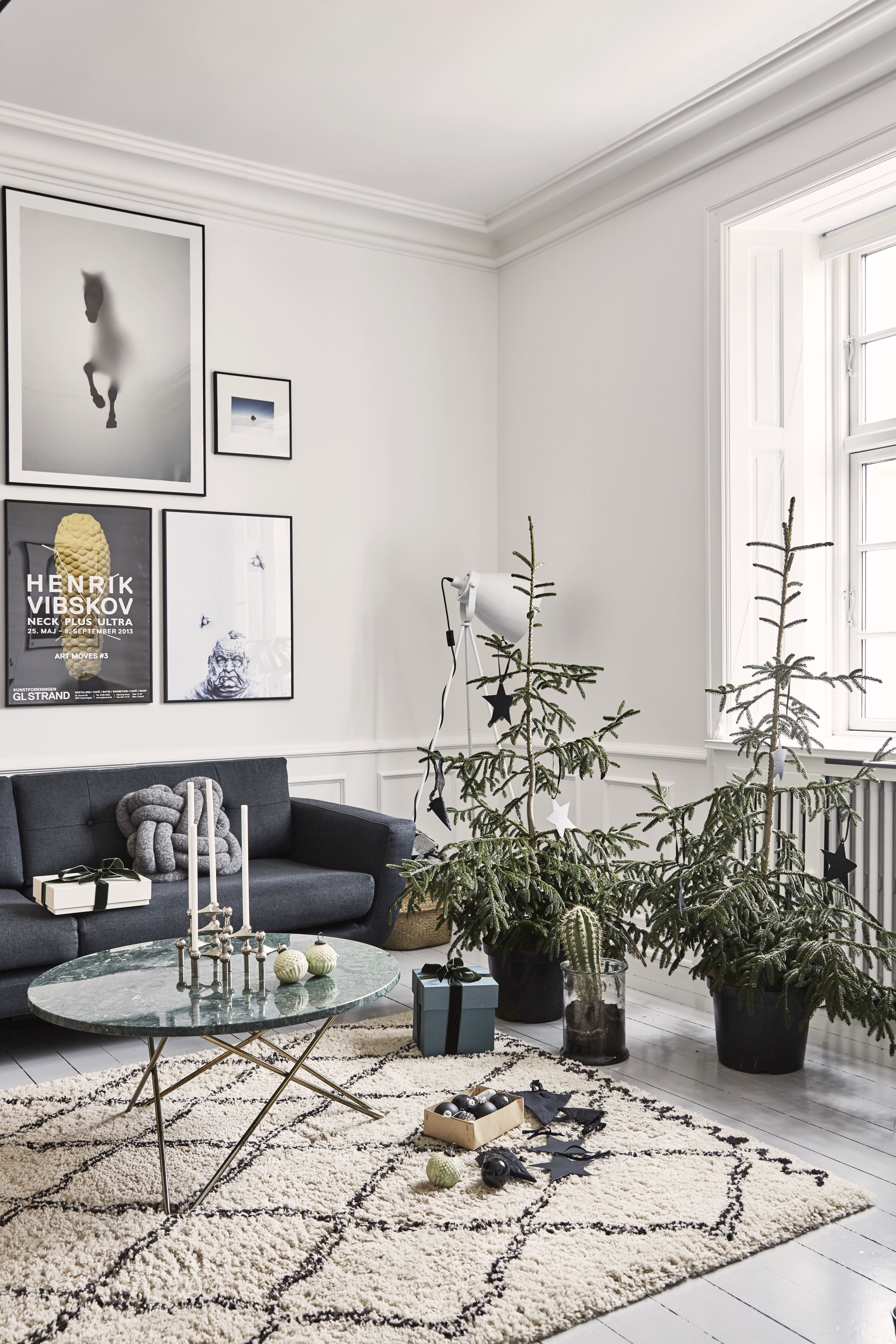 A laid-back approach to festive decoration is key in this Danish home