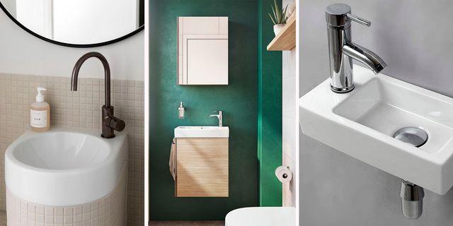 ideas para baños pequeños  lavabos mini