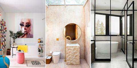 Ideas sin obras para baños modernos