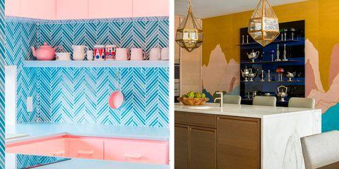 ideas de decoración para cocinas con color