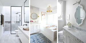 Ideas de decoración para un baño blanco vistas en Pinterest